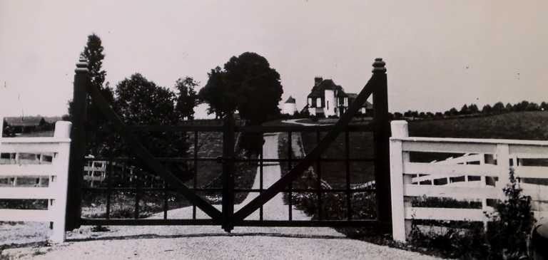 Clara Hyatt Estate in 1942, viewed from Hoyles Mill Road
